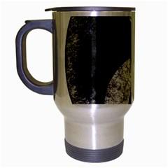 Grunge Yin Yang Travel Mug (silver Gray)