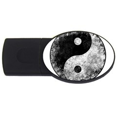 Grunge Yin Yang Usb Flash Drive Oval (4 Gb)