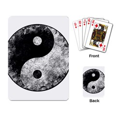 Grunge Yin Yang Playing Card