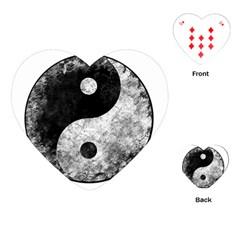 Grunge Yin Yang Playing Cards (heart)