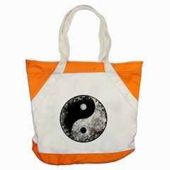 Grunge Yin Yang Accent Tote Bag
