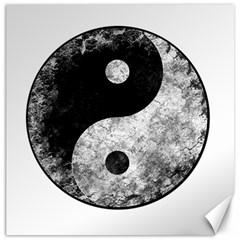 Grunge Yin Yang Canvas 20  X 20