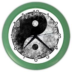 Grunge Yin Yang Color Wall Clocks