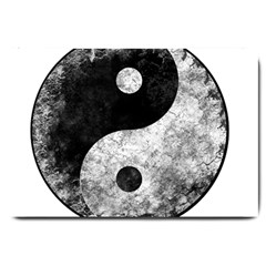 Grunge Yin Yang Large Doormat