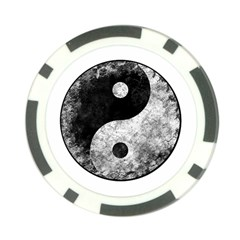 Grunge Yin Yang Poker Chip Card Guard