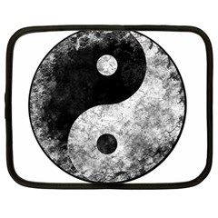 Grunge Yin Yang Netbook Case (large)