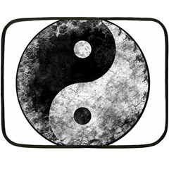 Grunge Yin Yang Fleece Blanket (mini)