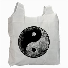 Grunge Yin Yang Recycle Bag (two Side)