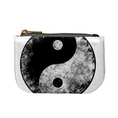 Grunge Yin Yang Mini Coin Purses
