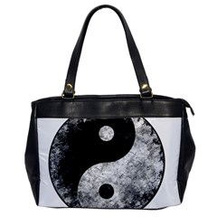 Grunge Yin Yang Office Handbags