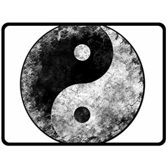 Grunge Yin Yang Fleece Blanket (large)