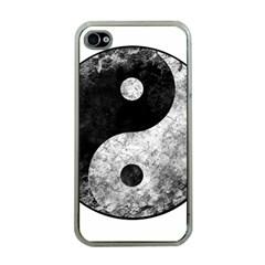 Grunge Yin Yang Apple Iphone 4 Case (clear)