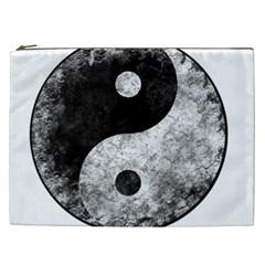 Grunge Yin Yang Cosmetic Bag (xxl)