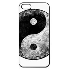 Grunge Yin Yang Apple Iphone 5 Seamless Case (black)