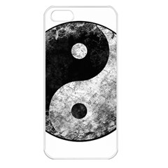 Grunge Yin Yang Apple Iphone 5 Seamless Case (white)