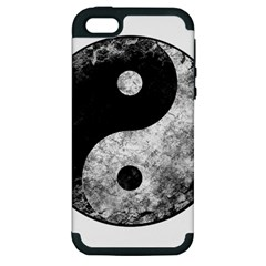 Grunge Yin Yang Apple Iphone 5 Hardshell Case (pc+silicone)