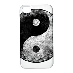 Grunge Yin Yang Apple Iphone 4/4s Hardshell Case With Stand