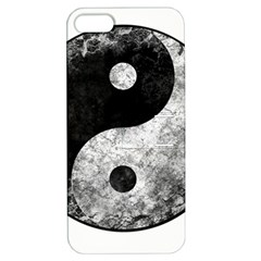 Grunge Yin Yang Apple Iphone 5 Hardshell Case With Stand