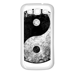 Grunge Yin Yang Samsung Galaxy S3 Back Case (white)