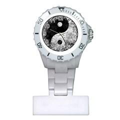 Grunge Yin Yang Plastic Nurses Watch