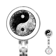 Grunge Yin Yang Stainless Steel Nurses Watch