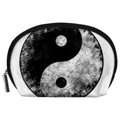 Grunge Yin Yang Accessory Pouches (large)