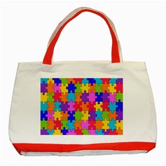 Colorful 10 Classic Tote Bag (red)