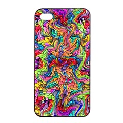 Colorful 12 Apple Iphone 4/4s Seamless Case (black)