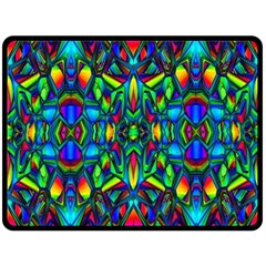 Colorful 13 Double Sided Fleece Blanket (large)