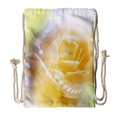 Beautiful Yellow Rose Drawstring Bag (large)