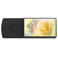 Beautiful Yellow Rose Rectangular Usb Flash Drive
