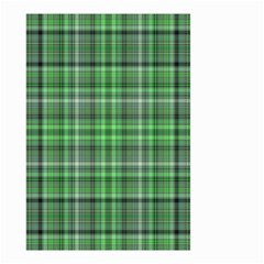 Green Plaid Small Garden Flag (two Sides)