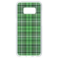 Green Plaid Samsung Galaxy S8 White Seamless Case