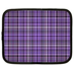Purple  Plaid Netbook Case (xxl)