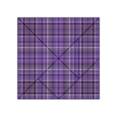 Purple  Plaid Acrylic Tangram Puzzle (4  X 4 )