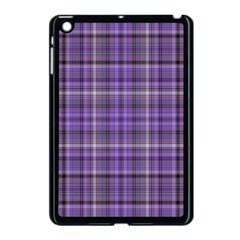 Purple  Plaid Apple Ipad Mini Case (black)