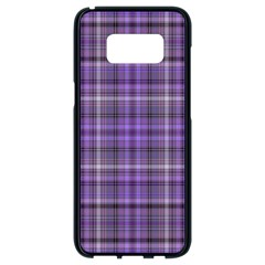 Purple  Plaid Samsung Galaxy S8 Black Seamless Case