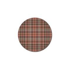 Peach  Plaid Golf Ball Marker (4 Pack)
