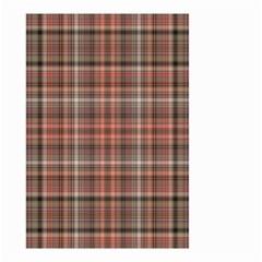 Peach  Plaid Small Garden Flag (two Sides)