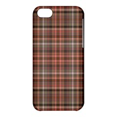Peach  Plaid Apple Iphone 5c Hardshell Case