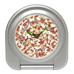 Abstract Textured Grunge Pattern Travel Alarm Clocks