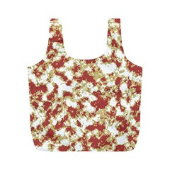 Abstract Textured Grunge Pattern Full Print Recycle Bags (m)