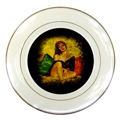Pin Up Girl  Porcelain Plates