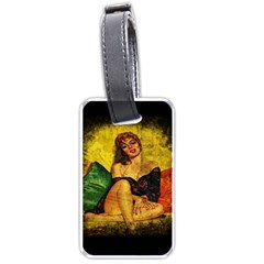 Pin Up Girl  Luggage Tags (one Side)