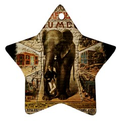 Vintage Circus  Ornament (star)