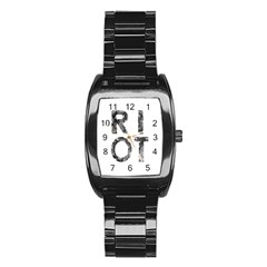 Riot Stainless Steel Barrel Watch