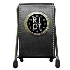 Riot Pen Holder Desk Clocks