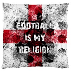Football Is My Religion Standard Flano Cushion Case (two Sides)