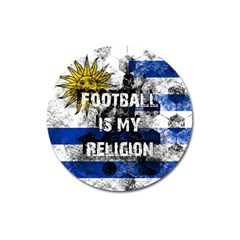 Football Is My Religion Magnet 3  (round)