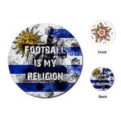 Football Is My Religion Playing Cards (round)